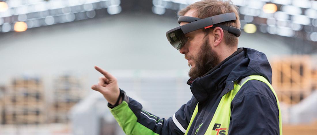 Die Hände frei: Die HoloLens im Industrie-Einsatz © PTS/ProLog Innovation