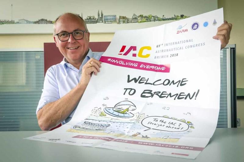 Peter von Kampen ist kaufmännischer Geschäftsführer am ZARM. Sein Team arbeitete fünf Jahre an der Vorbereitung des IAC in der Hansestadt. © WFB/Focke Strangmann
