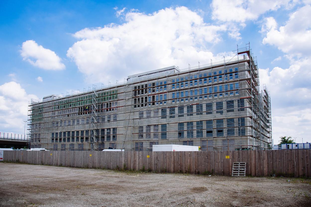 Im Bau: Das EcoMaT ist eines der größten Projekte in Bremen für die Wissenschaft, Bild: WFB/Ginter