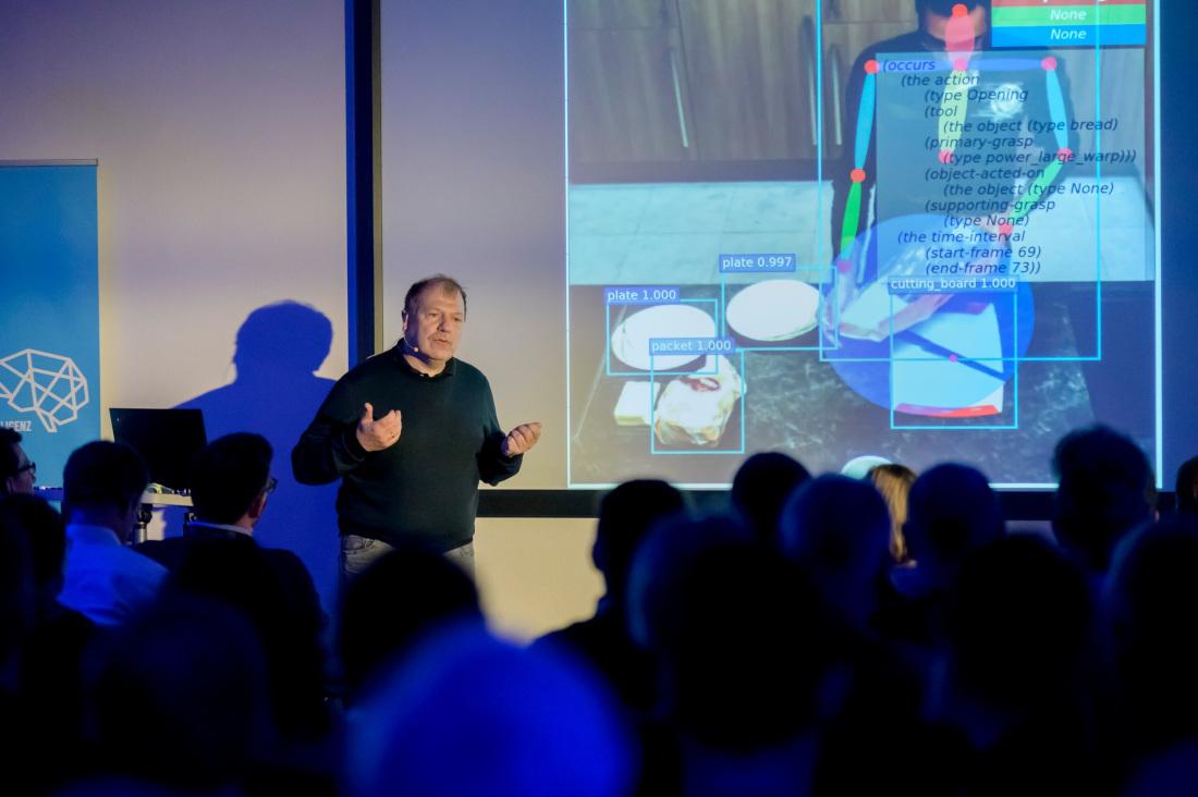 Prof. Michael Beetz klärt über den Stand der Technik auf, Bild: Pusch