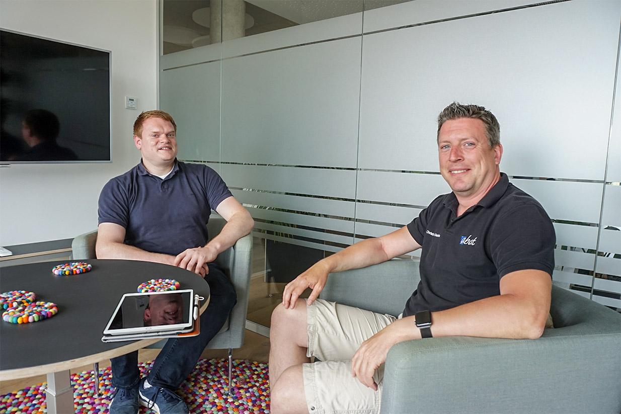 Carsten Manske (l.) und Christian Diestelkamp von abat, Bild: BI/Raveling