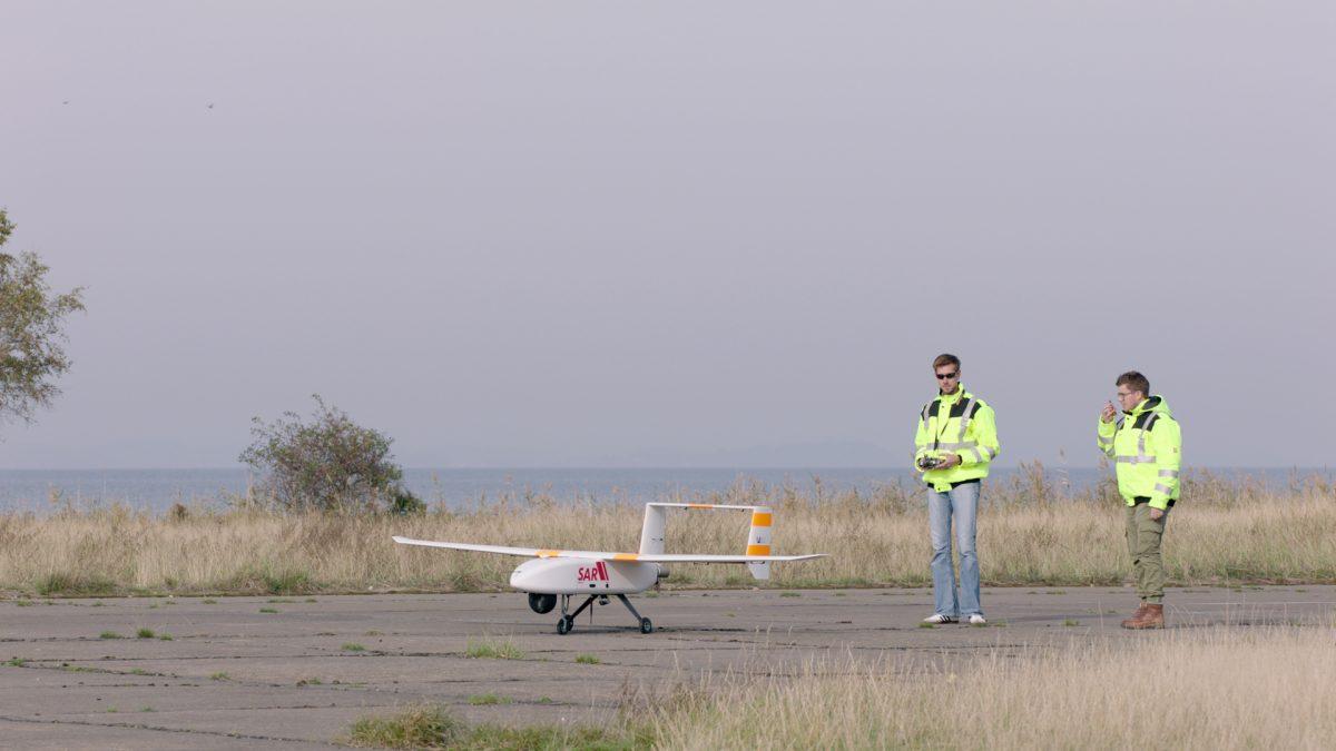 Start des LARUS-Flugsystems mit Sicherheitspilot, Bild: TU Dortmund