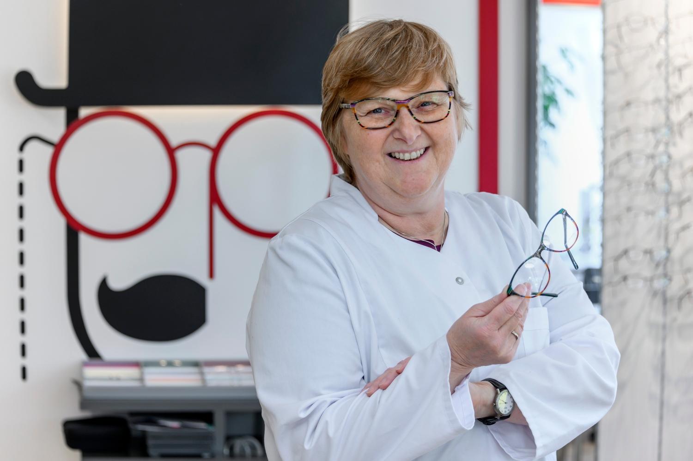 Astrid Maack, Inhaberin Optiker Grau Quelle: WFB/Frank Pusch