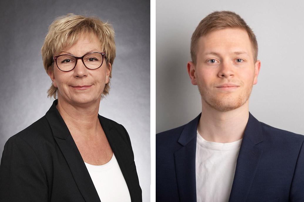 """Prof. Dr. Silke Eckardt, Projekt """"SeeOff"""" und Mirko Kruse, Projekt """"Decom Tools"""", Bild:"""