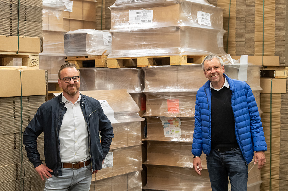 Die beiden Brüder Ulf und Frank Brüssel leiten das Unternehmen, Bild: SWAE/Rathke