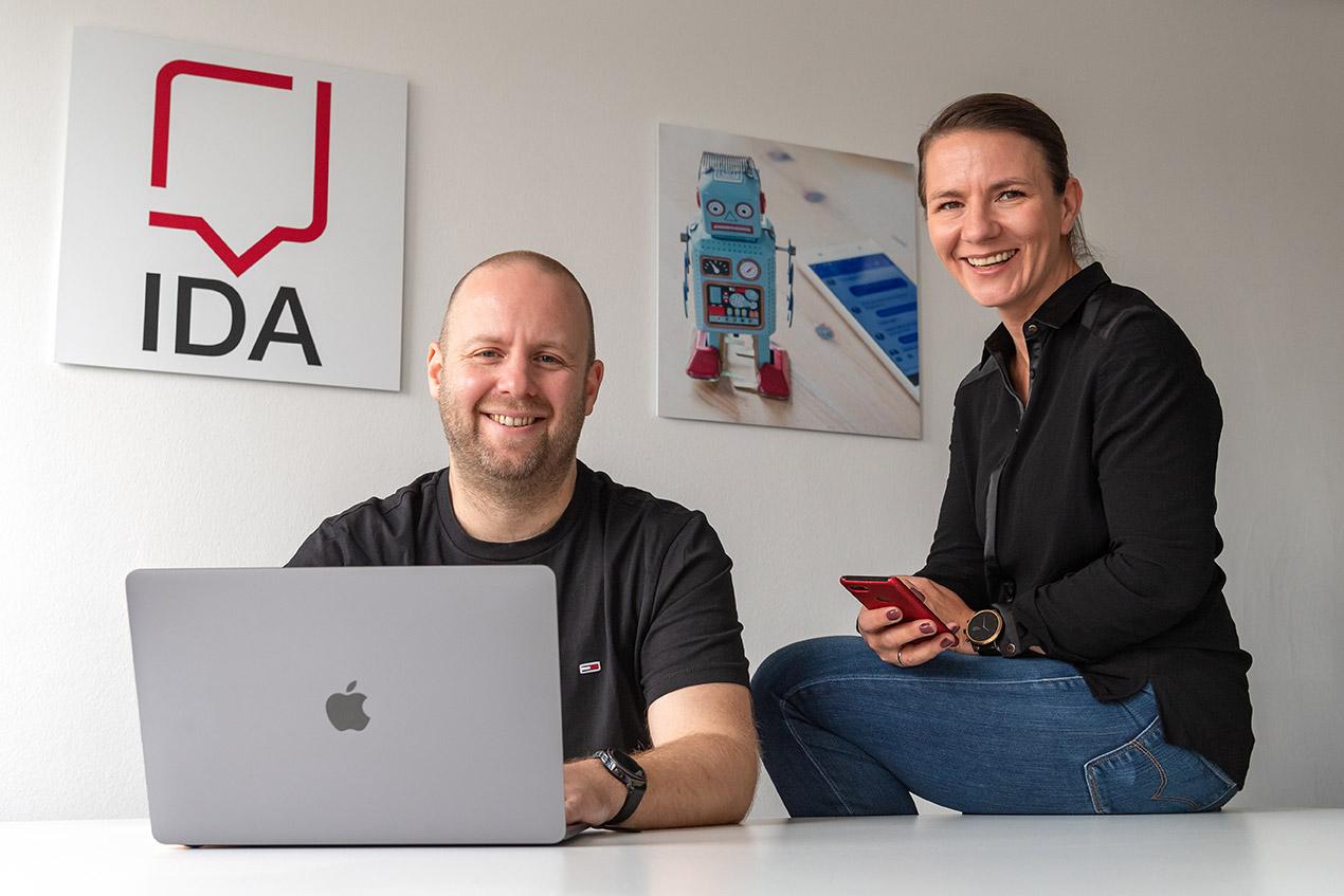 Dr. Dirk Wenig und Dr. Nina Wenig , Gründerehepaar von IDA Bot