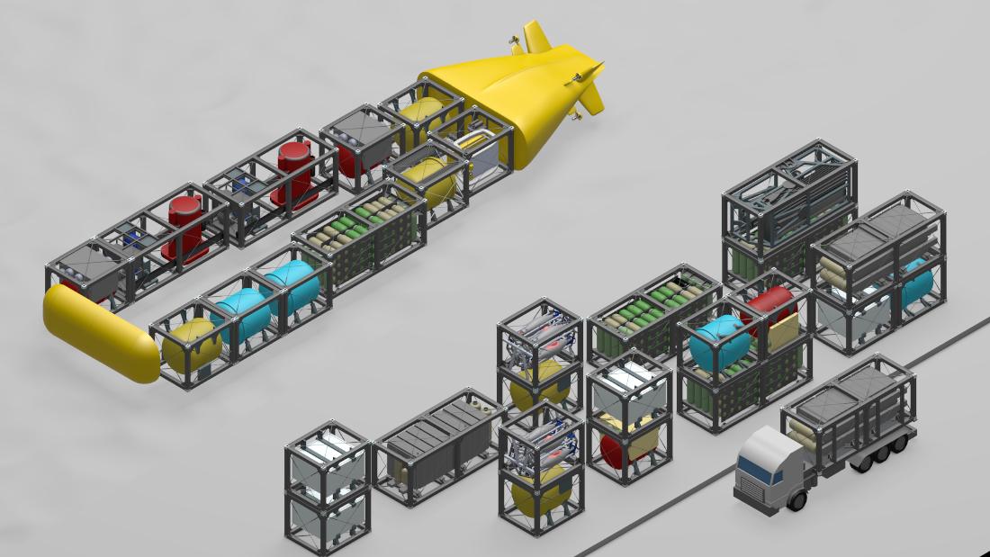 Das Unterwasserfahrzeug kann mit unterschiedlichen Modulen bestückt werden, je nach Missionsprofil, Bild: thyssenkrupp Marine Systems