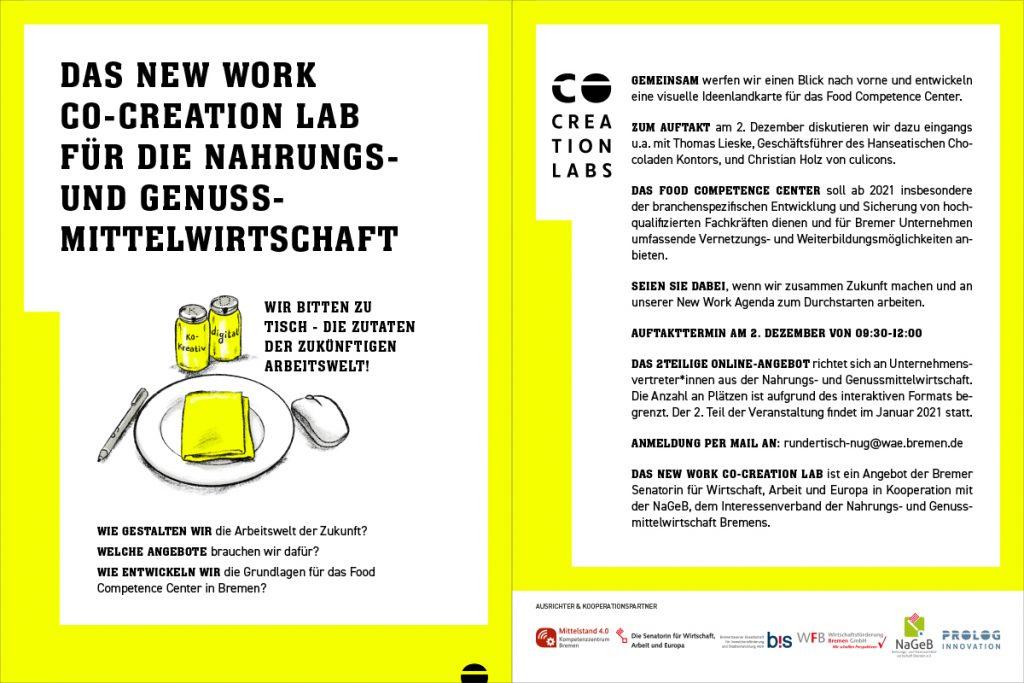 Flyer für die Veranstaltung