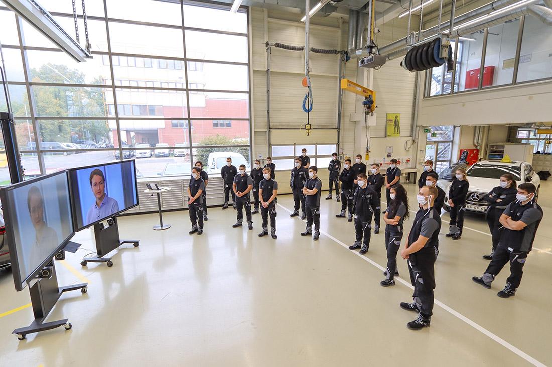 Alles anders im Coronajahr: 2020 wurden die Azubis digital begrüßt (im Bild: Standort Untertürkheim), Bild: Daimler